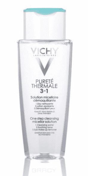 Vichy, Мицеллярный лосьон для снятия макияжа с лица и глаз Purete Thermal, 200 мл