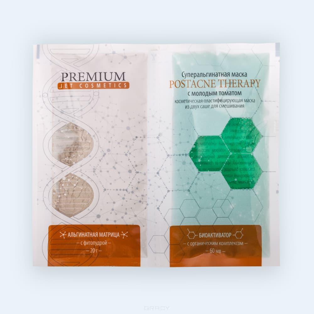 Premium, Суперальгинатная маска Postacne Therapy с молодым томатом, матрица 20 г + гель 60 мл premium суперальгинатная маска биоплацентарное омоложение с гиалуроновой кислотой матрица 20 г гель 60 мл