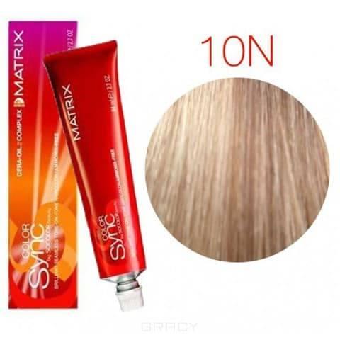 Matrix, Color Sync Краска для волос Матрикс Колор Синк (палитра 68 цветов), 90 мл 10N очень-очень светлый блондин