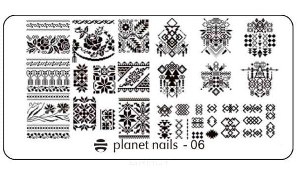 цена на Planet Nails, Пластина для Stamping Nail Art (15 видов) Пластина для Stamping Nail Art - 06