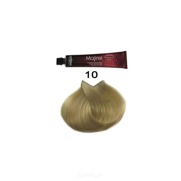 LOreal Professionnel, Крем-краска Мажирель Majirel, 50 мл (88 оттенков) 10. супер светлый блондинОкрашивание: Majirel, Luo Color, Cool Cover, Dia Light, Dia Richesse, INOA и др.<br><br>