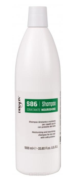 Купить Dikson, Увлажняющий и питательный шампунь для сухих волос с протеинами молока SM Line Nourishing S86, 1 л
