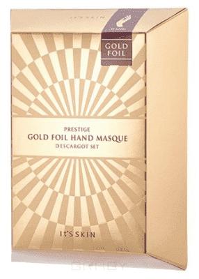 Купить It's Skin, Prestige Gold Foil Hand Masque D'escargot Маска для рук, питательная Итс Скин, 6 мл