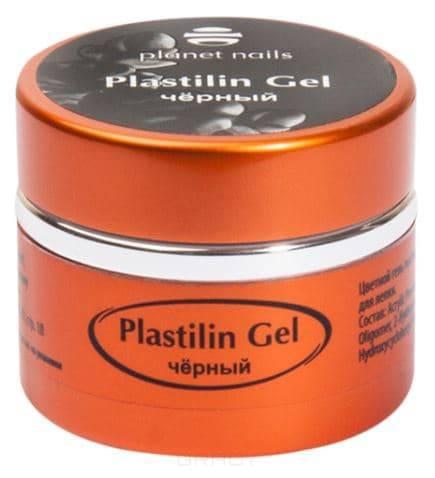 Planet Nails, Гель-пластилин Plastilin Gel Планет Нейлс (8 оттенков), 5 гр черный цена и фото