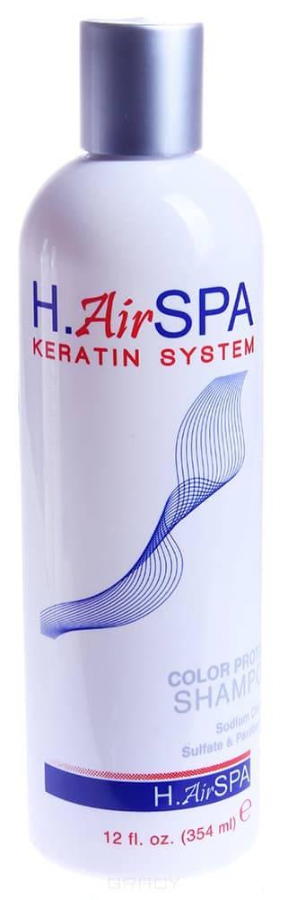 H.AirSPA, Шампунь кератиновый для окрашенных волос Color Protect Shampoo, 355 мл