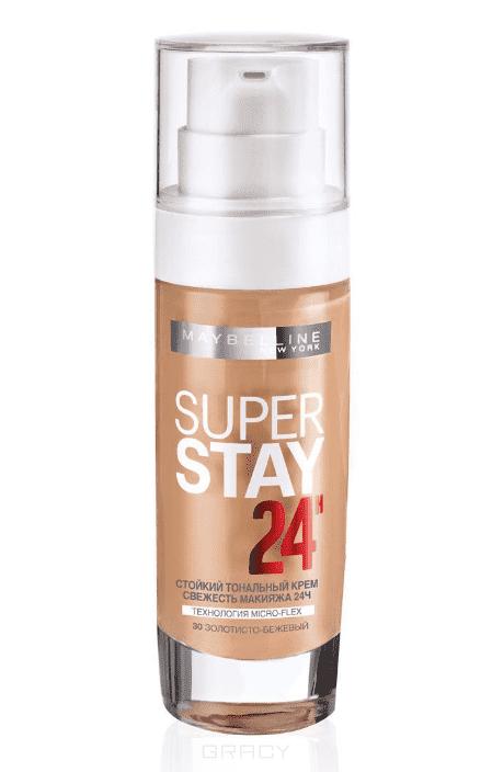 Maybelline, Тональный крем SuperStay 24ч, 30 мл (8 оттенков) 30 золотисто-бежевыйДля лица<br><br>
