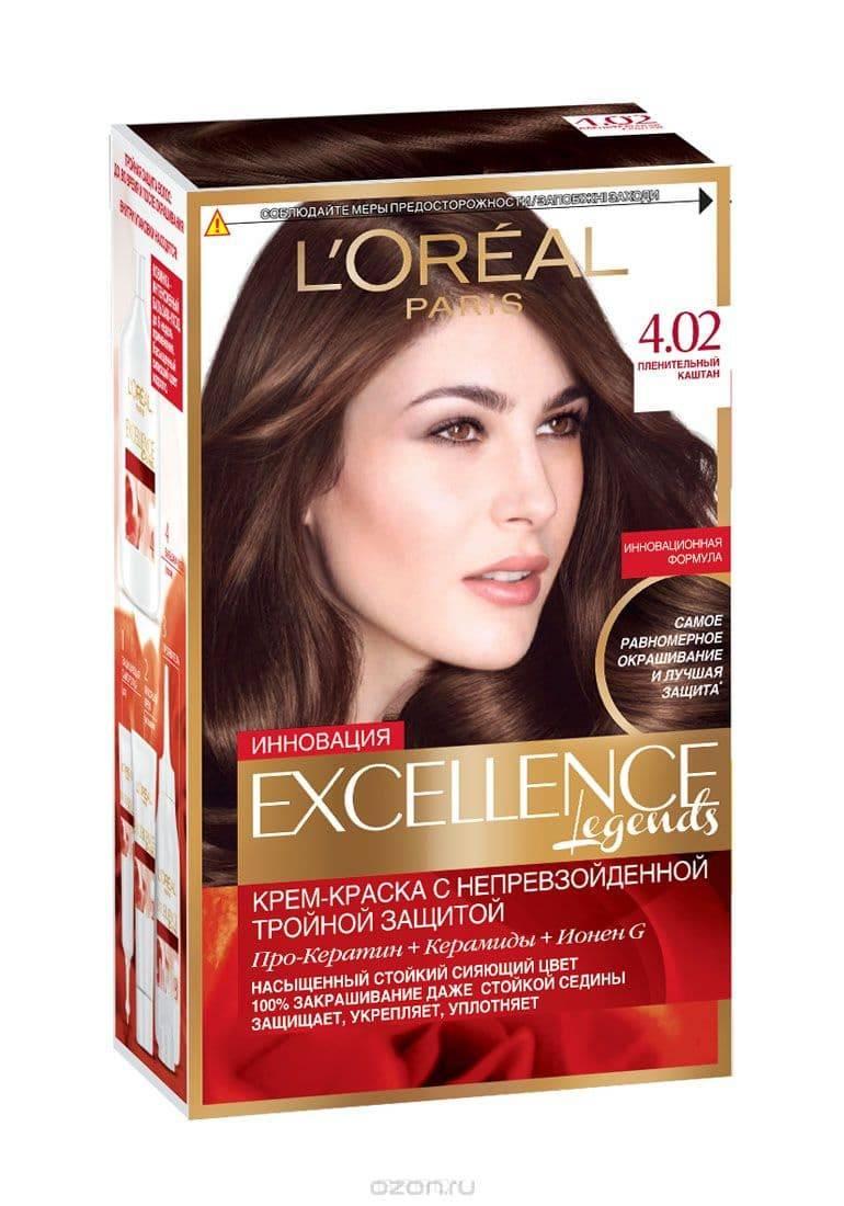 LOreal, Краска для волос Excellence Creme (32 оттенка), 270 мл 4.02 Пленительный каштанОкрашивание<br><br>