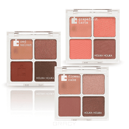 Holika Holika, Piece Matching Shadow Palette Палетка теней для глаз, 6 г (3 вида) Холика Холика, 6 г, 01 Red Velvet (Красный вельвет) лак для ногтей holika holika piece matching nails care shine topcoat 10 мл