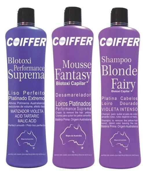 Coiffer, Набор дл выпрмлени и нейтрализации желтизны Blotoxi, 3 шт х 100 млКератиновое выпрмление и восстановление волос<br><br>