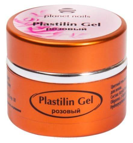 Planet Nails, Гель-пластилин Plastilin Gel Планет Нейлс (8 оттенков), 5 гр розовый цена и фото