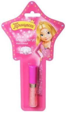 Принцесса, Блеск для губ Жемчужный со спонжем, 5 мл детская косметика принцесса блеск для губ жемчужный 5 мл