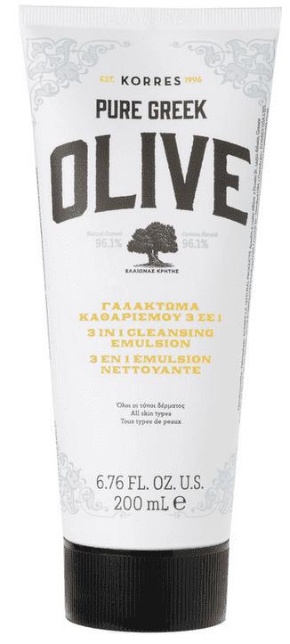 Купить Korres, Очищающее средство 3-в-1 Greek Olive, 200 мл