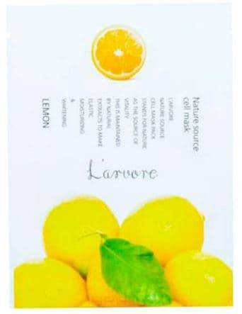 все цены на L'Arvore, Тканевая маска для лица с экстрактом лимона Nature Source Cell Mask Lemon, 25 гр онлайн