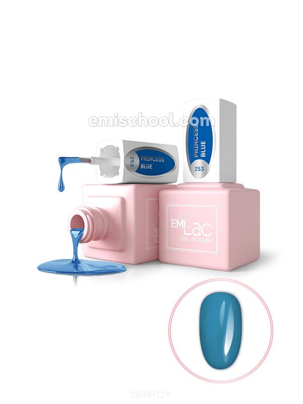 Купить E.Mi, Гель-лак для ногтей, E.MiLac №253 GL Синяя принцесса