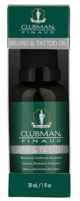 Купить Clubman, Масло для бороды и татуировок (с доб. арганы, макадамии, моринги) Beard and Tattoo Oil, 30 мл
