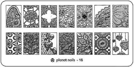 Planet Nails, Пластина для Stamping Nail Art (25 видов) - 16