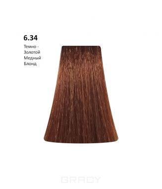 Купить BB One, Перманентная крем-краска Picasso Colour Range без аммиака (76 оттенков) 6.34Dark Gold Copper Blond/Темно-Золотой Медный Блонд