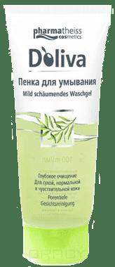 Пенка для умывания, 100 млОписание:&#13;<br> &#13;<br> Пенка для умывания D Oliva очищает кожу от загрязнений и остатков макияжа, не оставляет ощущения стянутости, сохраняет оптимальный рН-баланс кожи. Основными компонентами выступают: оливковое масло, биотин, масло жожоба.&#13;<br> &#13;<br> Способ применения:&#13;<br> &#13;<br> Нанести на лицо небольшое количество средства, предварительно вспенив его на ладони, и смыть теплой водой. Пенка подходит для удаления макияжа с глаз.&#13;<br> &#13;<br> Состав:&#13;<br> &#13;<br> Aqua, MIPA-Laureth Sulfate, Cocoamidopropyl Betaine, PEG-18, Castor Oil, Sodium Chloride,%DELIMITER_START{} Olea Europaea Fruit Oil, Propylene Glycol, PEG-55 Propylene Glycol Oleate, Simmondsia Chinensis Seed Oil, PEG-6 Caprylic/Capric Glycerides, Glycerin, Coco Glucoside, Parfum, Citric Acid, Phenoxyethanol, Benzyl Alcohol, Potassium Sorbate, Tocopherol, Butylphenyl Methylpropional, Linalool, Citronellol, Limonene, Benzyl Salicylate, Eugenol.<br>