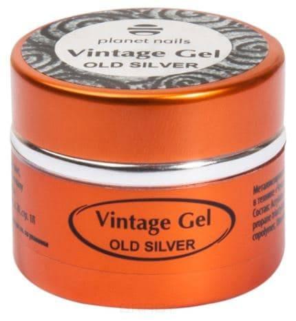 Planet Nails, Гель-паста для чеканки Vintage Gel Планет Нейлс (6 оттенков), 5 гр old silver