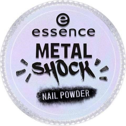 Essence, Эффектная пудра для ногтей Metal Shock Nail Powder, 9 гр (6 оттенков) №02, фиолетовый перламутр цена