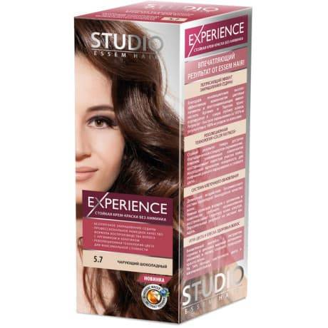 Studio, Краска для волос experience (8 оттенков), 40/60/15 мл 5.7 Чарующий Шоколадный