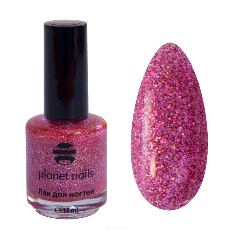 Planet Nails, Глиттер лак для ногтей, 17 мл (21 оттенок) 741