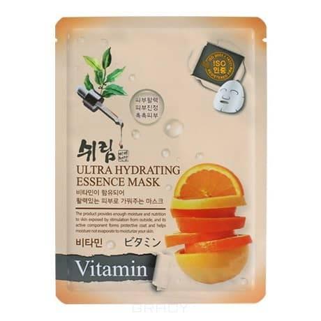 Shelim, Ultra Hydrating Essence Mask Vitamin Тканевая маска с витаминами для лица, 25 мл shelim тканевая маска для лица с натуральным экстрактом пчелиного маточного молочка ultra hydrating essence mask royal jelly 25 мл