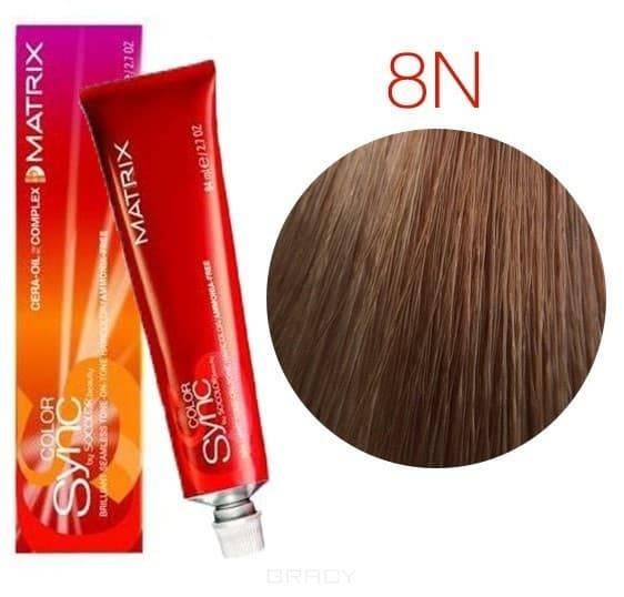 Matrix, Color Sync Краска для волос Матрикс Колор Синк (палитра 68 цветов), 90 мл 8N светлый блондин краска матрикс 8n отзывы
