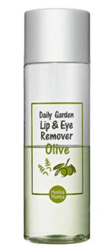 Средство для снятия макияжа глаз и губ с экстрактом Оливы Daily Garden Olive Lip Eye Remover, 100 млСредство для снятия макияжа справляется даже с самым яркими стрелками и суперстойким тинтом, не раздражая нежную кожу вокруг глаз и губ. Обеспечивает деликатное очищение без сухости и покраснений.&#13;<br>&#13;<br>  &#13;<br>&#13;<br>&#13;<br>Способ применения:&#13;<br>&#13;<br>Нанеси средство на ватный диск, приложи его к веку или губам. Подожди несколько секунд и аккуратно удали макияж.&#13;<br>&#13;<br>&#13;<br>  &#13;<br>&#13;<br>&#13;<br>Особые компоненты:&#13;<br>&#13;<br>Масло оливы увлажняет и питает кожу, предотвращая образование сухости. Экстракт ромашки успокаивает и освежает чувствительную кожу вокруг глаз.<br>
