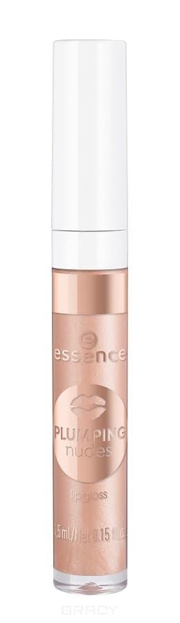 Купить Essence, Блеск для губ Plumping Nudes Lipgloss, 4.5 мл (7 тонов) №01, персиковый
