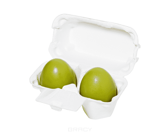 Holika Holika, Мыло маска с зеленым чаем Green Tea Egg Soap, 50 г*2<br>
