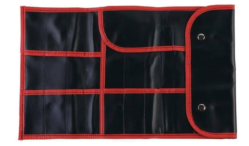 Dewal, Чехол для парикмахерских инструментов, полимерный материал, черный, 37х23 см чемодан для парикмахерских инструментов dewal professional 46 5 27 5 45 см черный