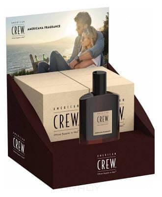 American Crew, Туалетная вода для мужчин Americana Fragrance Display (Коробка-дисплей 6 шт по 100 мл + 1 тестер 100 мл)
