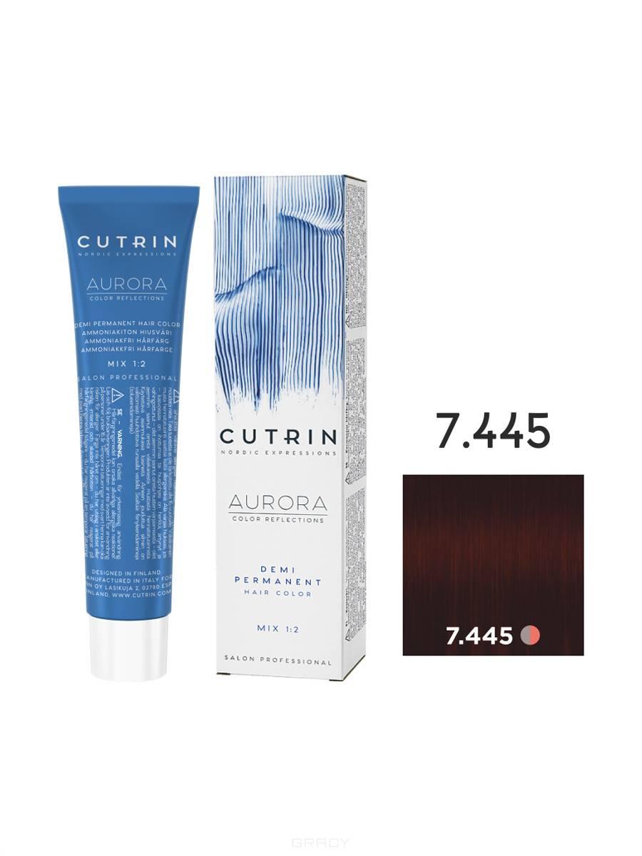 Купить Cutrin, Безаммиачная краска Aurora Demi (Новый дизайн Reflection Demi), 60 мл (55 оттенков) 7.445 Красная смородина