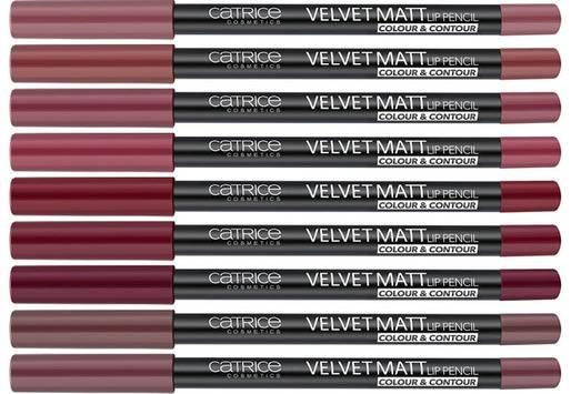 Карандаш для губ Velvet Matt Lip Pencil Colour & Contour, (10 оттенков)