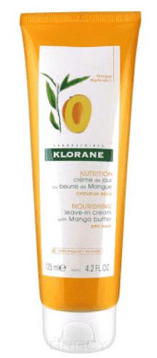 Купить Klorane, Крем питательный несмываемый для волос с маслом манго, 125 мл