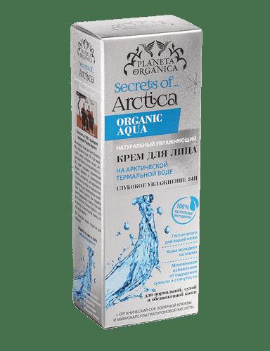 Planeta Organica, Натуральный увлажняющий крем для лица Глубокое увлажнение 24 Н Secrets of Arctica, 75 млКремы, гели, сыворотки<br><br>