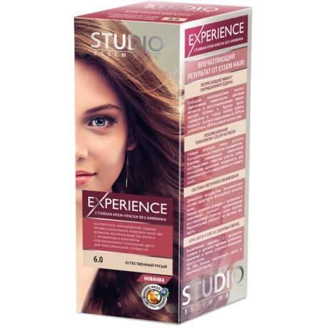 Studio, Краска для волос experience (8 оттенков), 40/60/15 мл 6.0 естественный русый