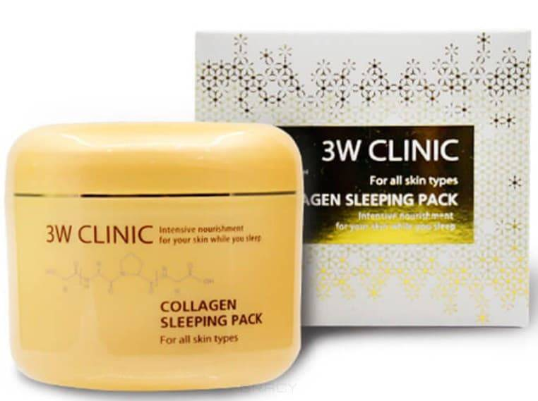 Купить 3W Clinic, Ночная гель-маска для лица с коллагеном Collagen Sleeping Pack, 100 мл