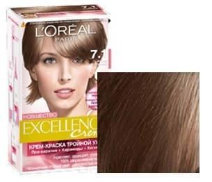 LOreal, Краска для волос Excellence Creme (32 оттенка), 270 мл 7.1 Русый пепельныйОкрашивание<br><br>