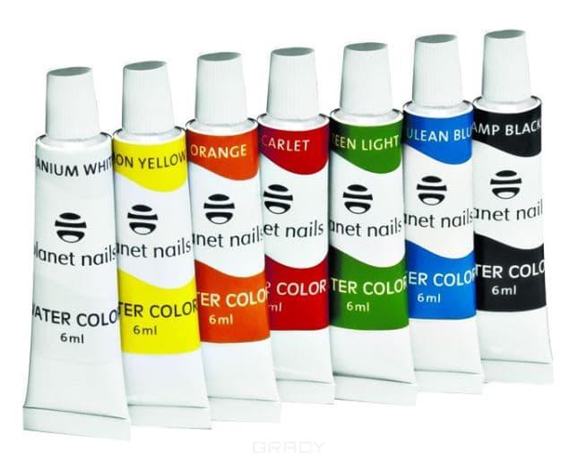 Planet Nails, Краска акриловая на водной основе Цветная (в ассортименте), 6 мл газовая колонка edisson f 20 gd костер
