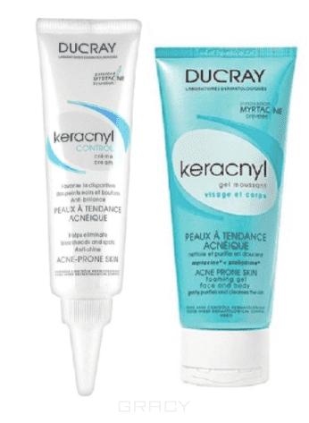 Ducray, Программа ухода за проблемной кожей (Крем регулирующий + Гель очищающий) Keracnyl Control, 30 + 40 мл ducray keracnyl крем для проблемной кожи 30 мл