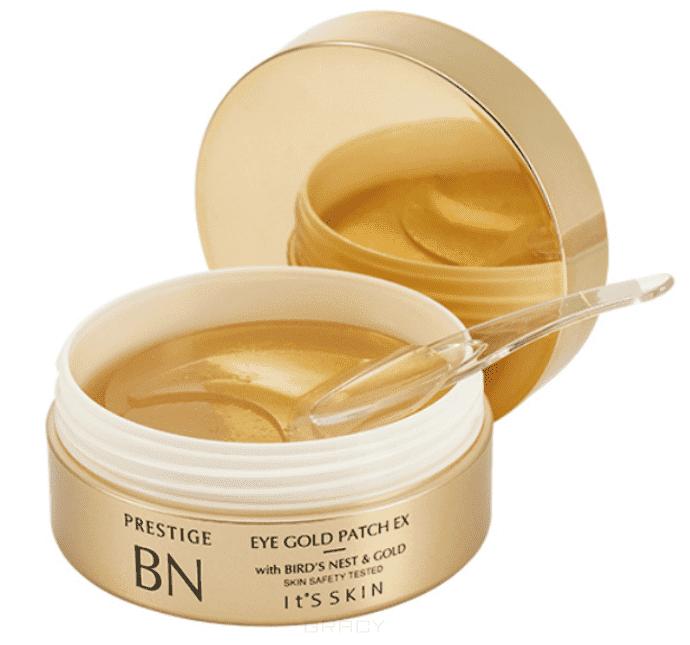Купить It's Skin, Prestige BN Eye Gold Patch EX Патчи гидрогелевые для глаз с золотом Итс Скин, 83 г (50 шт)