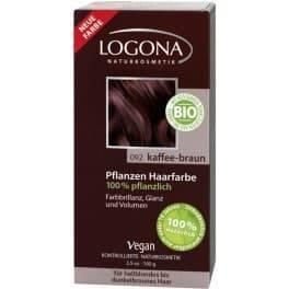 Logona, Растительная краска для волос, 100 г (8 оттенков) 092 Кофейно-коричневый logona powder naturel brown краска растительная для волос тон 080 натурально коричневый 100 г