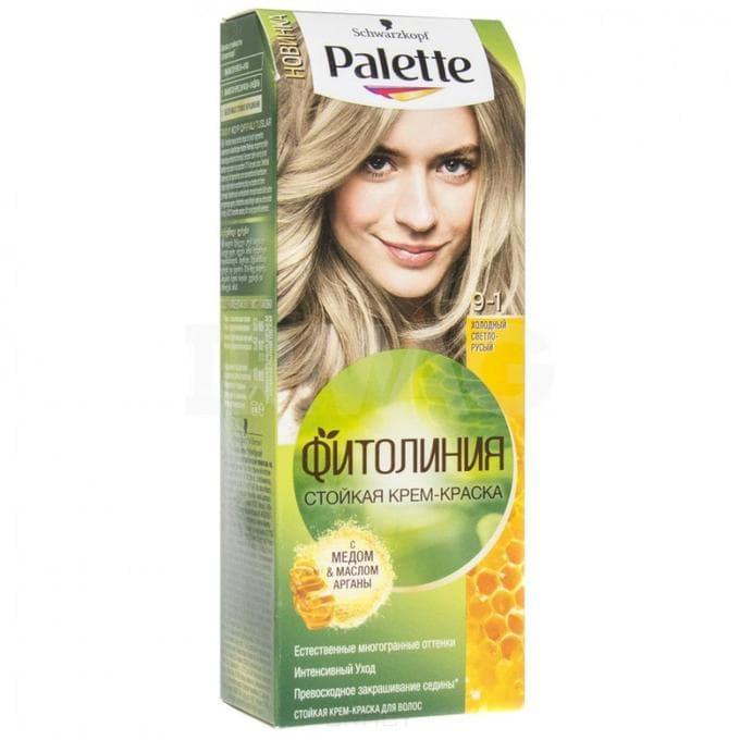 Купить Schwarzkopf Professional, Краска для волос Palette Фитолиния без аммиака (28 оттенков), 50 мл 9-1 Холодный светло-русый