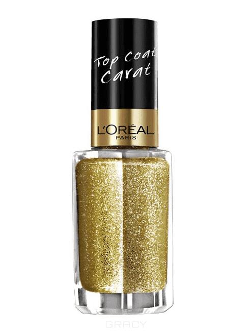 LOreal, Верхнее покрытие для ногтей Top Coat, 5 мл (14 оттенков) 910 Золотой каратЦветные лаки для ногтей<br><br>