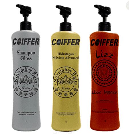 Coiffer, Набор для выпрямления и интенсивности цвета оттенков блонд Lizz, 3 шт х 1 л