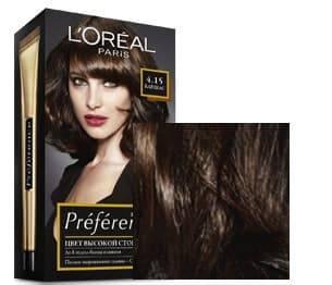 Купить L'Oreal, Краска для волос Preference (27 оттенков), 270 мл 4.15 Каракас темный каштан