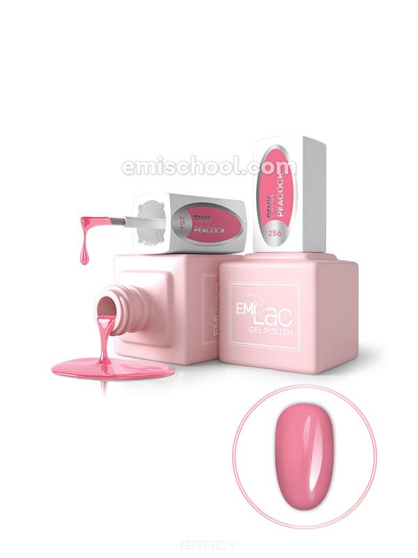 Купить E.Mi, Гель-лак для ногтей, E.MiLac №256 GL Розовый павлин