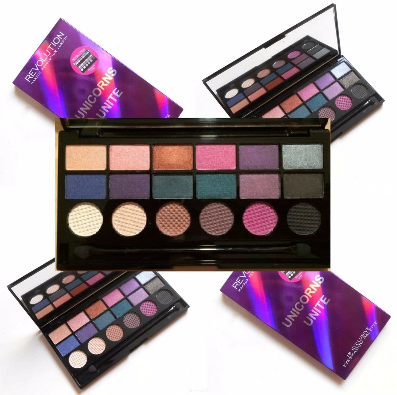 Купить MakeUp Revolution, Палетка теней Salvation Palette, 13 гр (2 варианта), Hard Day